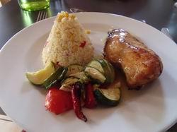 鳥の胸肉と野菜