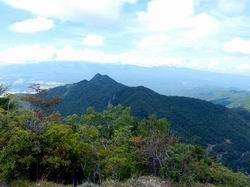 山頂から男山
