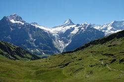 シュレックホルンと氷河