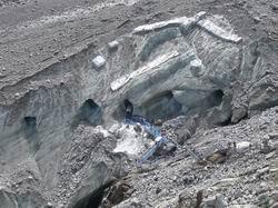 氷河の入り口